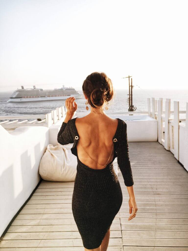 Mykonos Blick auf das Meer