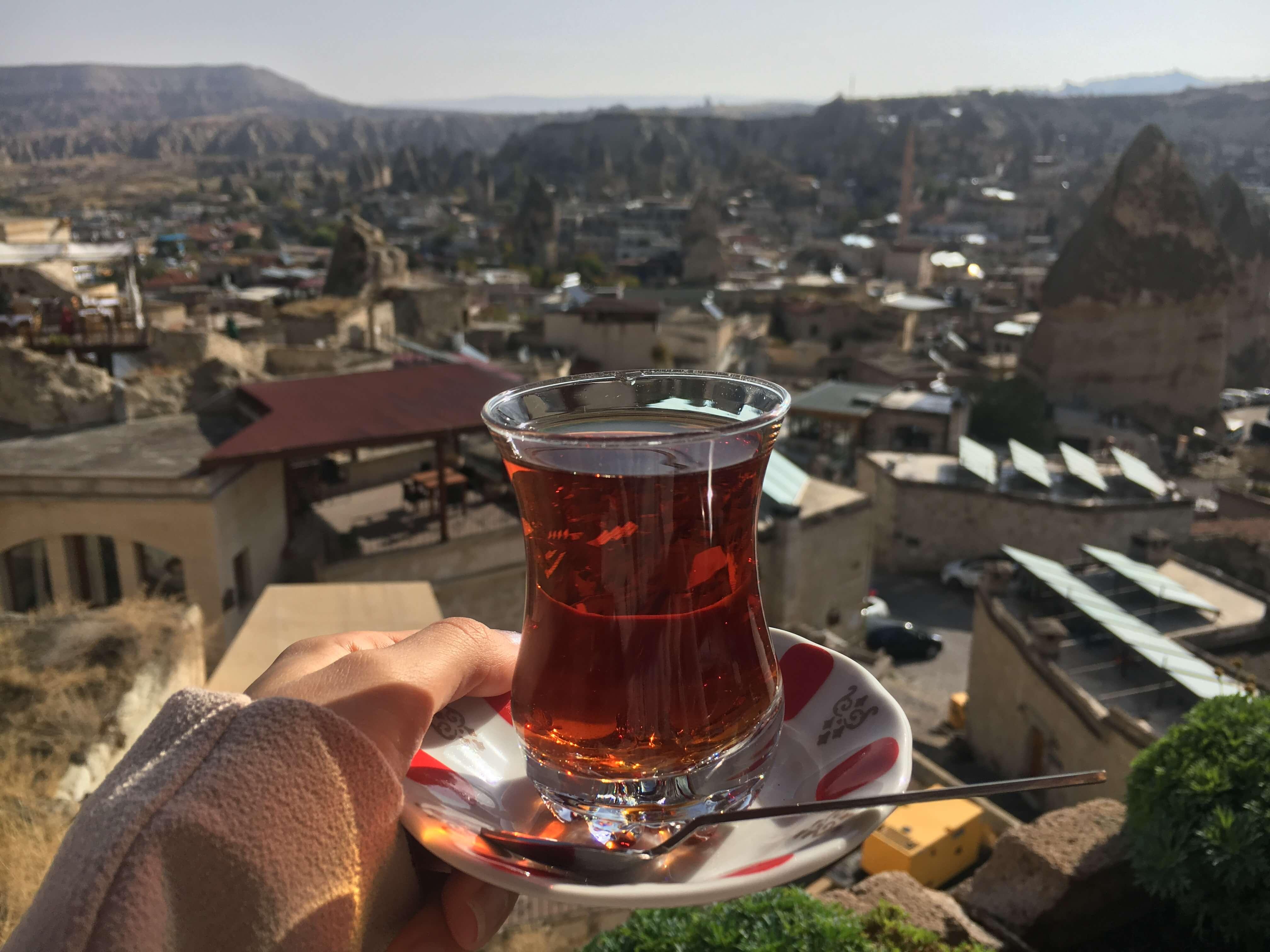 Türkischer Tee (Chai) in Göreme