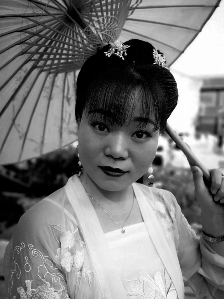 Frau in Nanjing