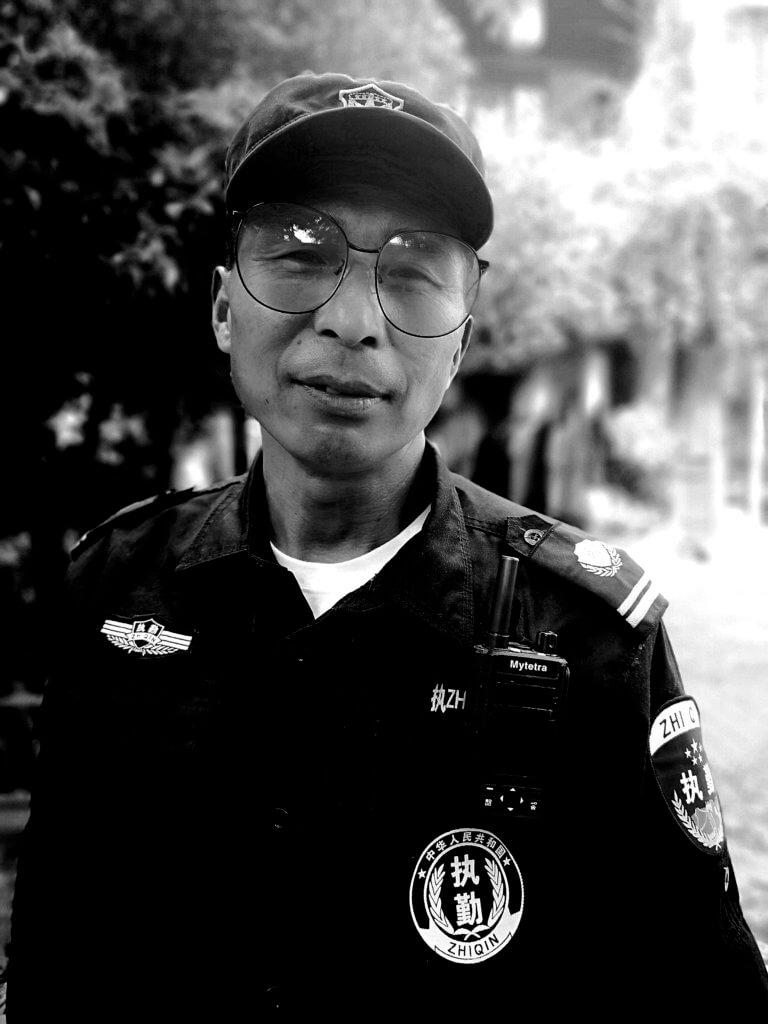 Polizist in Suzhou