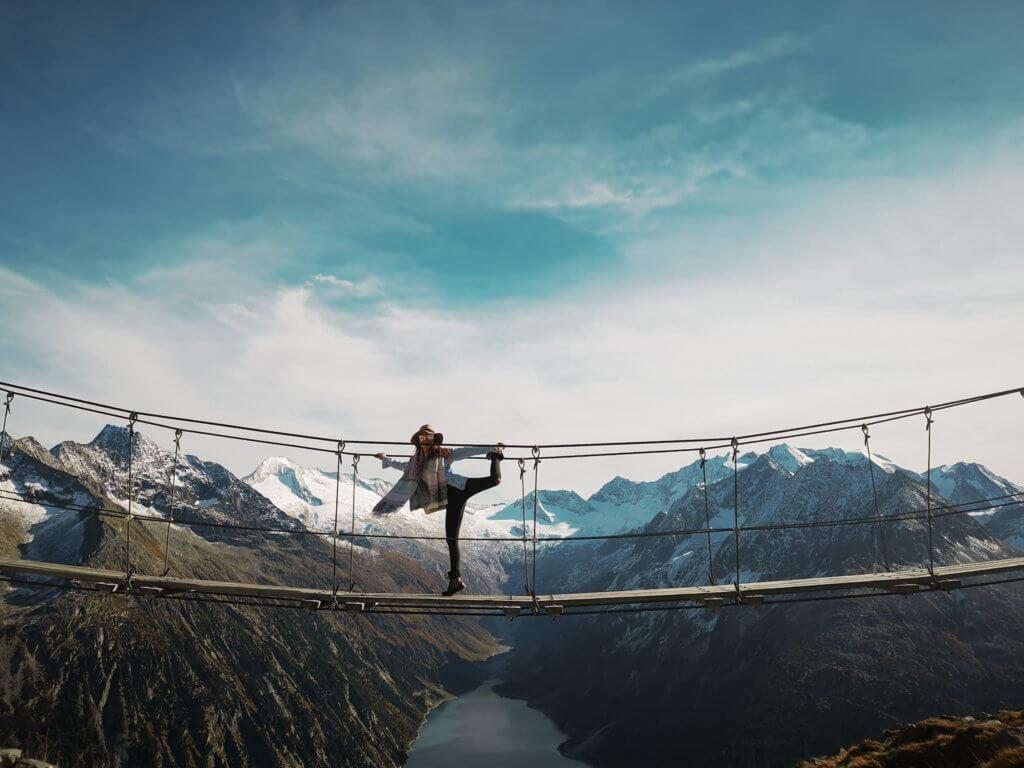 Olpererhütte Wanderung zur berühmten Hängebrücke im Zillertal