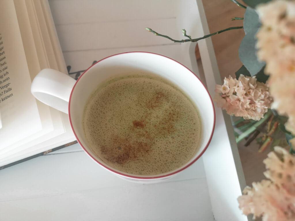 Matcha Latte Rezept Vegan