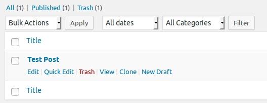 Wordpress Post duplizieren
